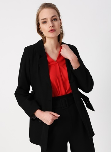 Quzu Quzu 19Y50668 Siyah Kadın Ceket Siyah